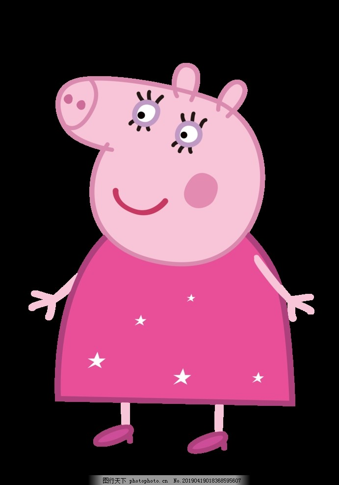 猪妈妈_粉红猪妈妈图片_动漫人物_动漫卡通_图行天下图库