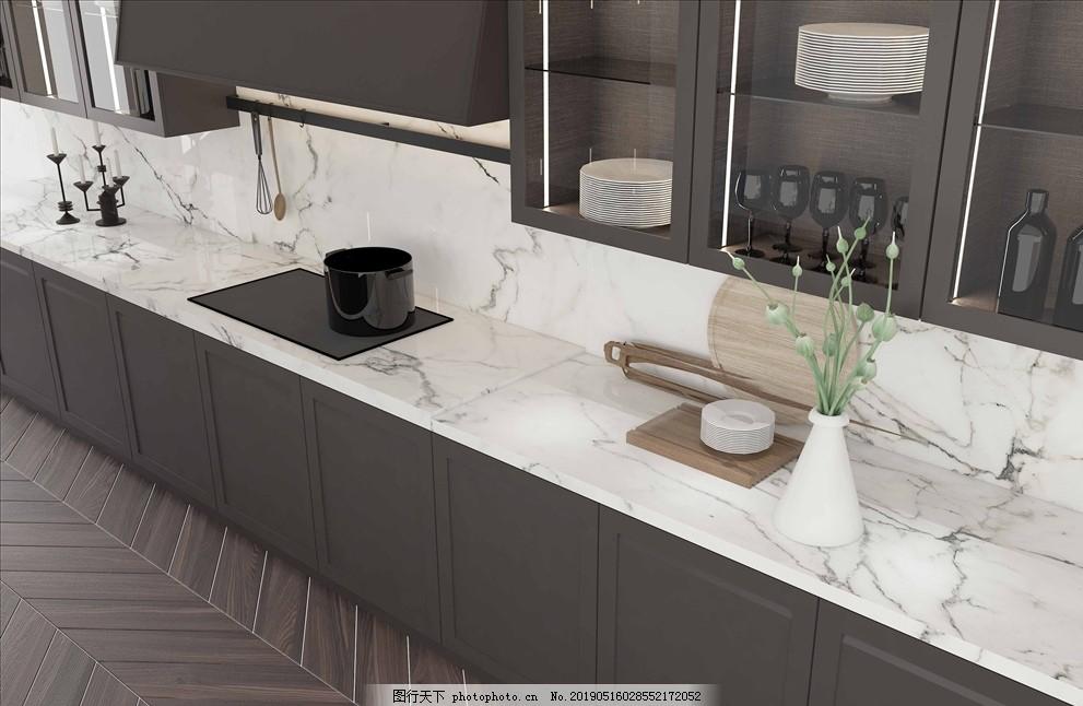 家具橱柜效果图细节