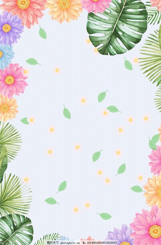 热带树叶背景