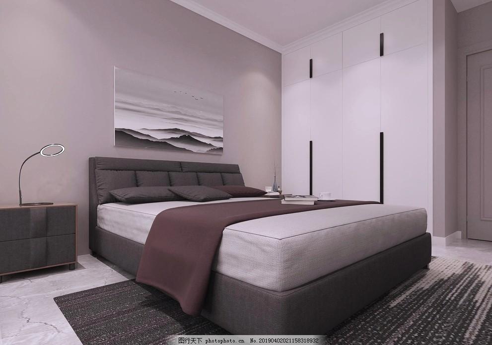 现代风格主卧,衣柜,灰色,简约,设计,3D设计,3D作品