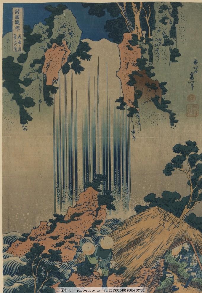 浮世绘国画,手绘厅装饰画,门厅装饰画,日本,日本风格,手绘油画,手绘人物