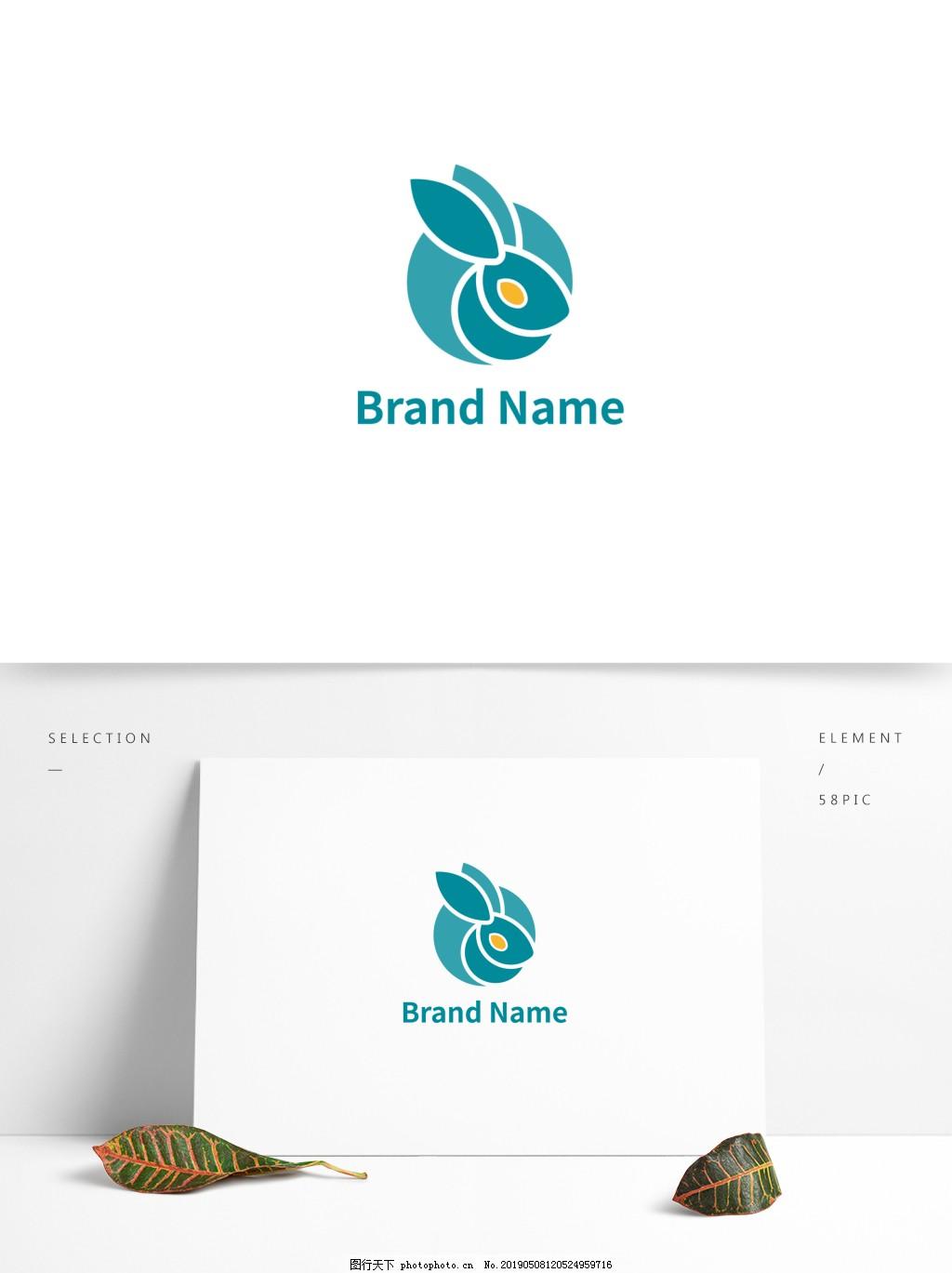 简约清新兔子LOGO logo 兔子logo 简洁logo 企业logo