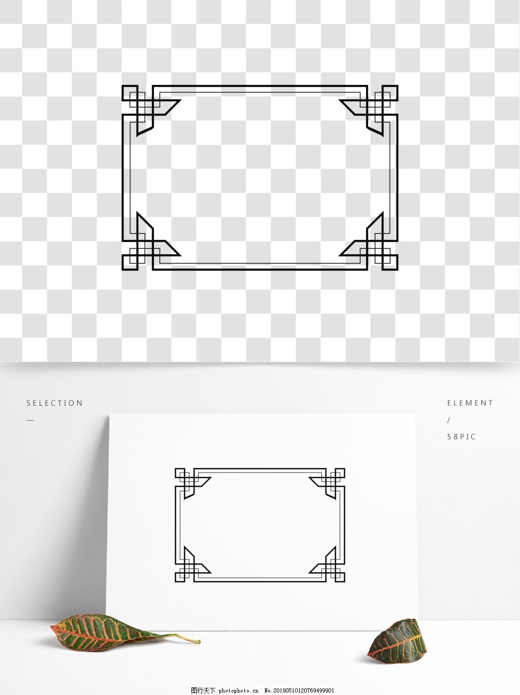 通用边框元素简约几何,纹理,极简,ai,矢量