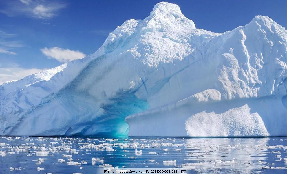 南极冰川风景,唯美,冰雪,大自然,企鹅,白色,摄影