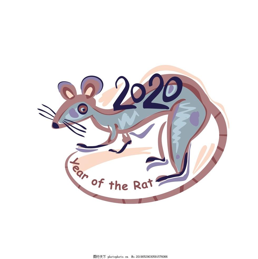 可爱老鼠卡通形象,鼠年,鼠年吉祥物,2020,手绘老鼠,老鼠手绘,卡通老鼠