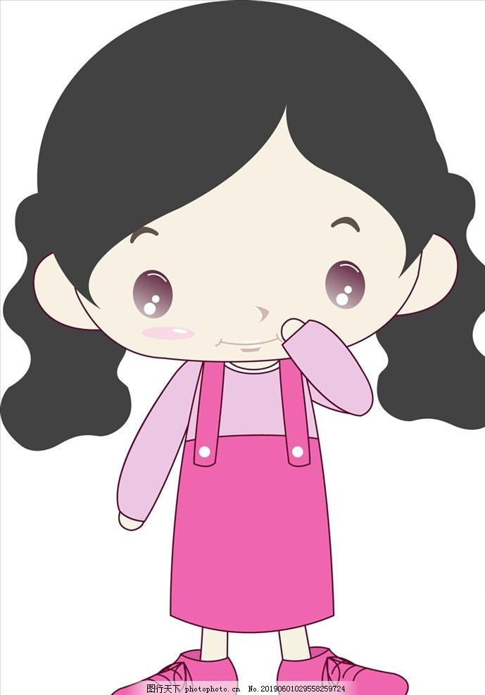 手绘女孩,快乐童年,生日庆典,生日礼物,爱心礼物,睡衣女孩,卡通手绘