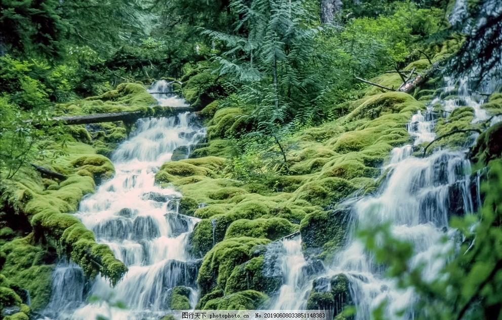 溪流,瀑布,山川,河流,小溪,高山流水,细水长流