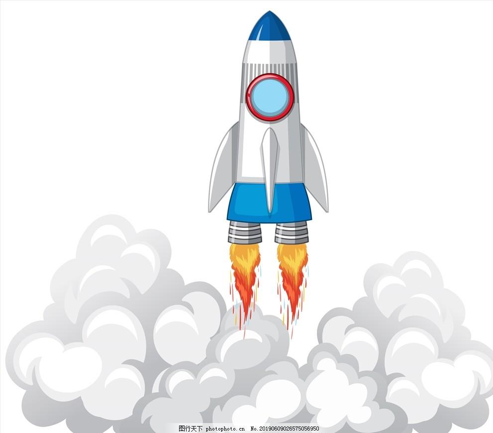 剪纸式火箭,上升,升空,天空,发射,现代科技,太空